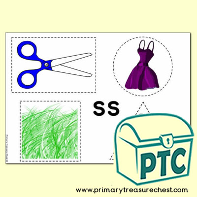 'ss' Themed Scissor- Shape- Pre-Writing Activity