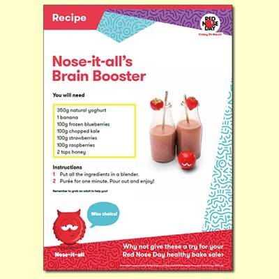 Nose-it-all's Brain Booster Recipe For Red Nose Day