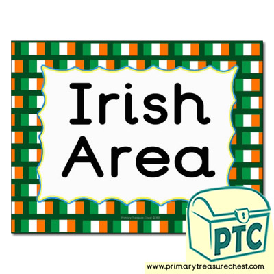 Irish area Classroom sign