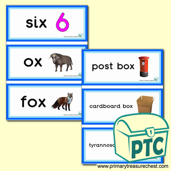 Letter 'x'  Themed Flashcards