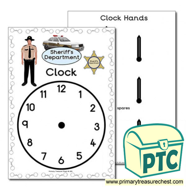Sheriff's Department Role Play Clock