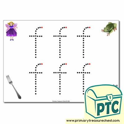'f' Lowercase Letter Formation Activity - Join the Dots