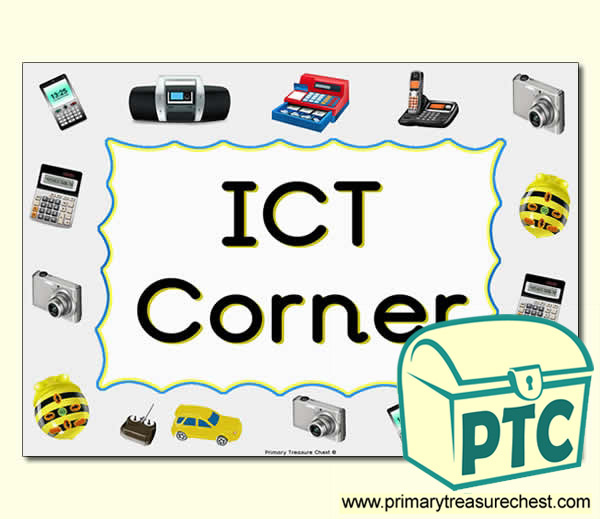 Ict Area Sign For The Classroom Primary Treasure Chest