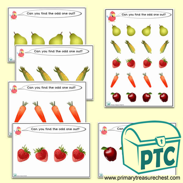 Odd-One-Out Fruit & Vegetable / Healthy Eating Challenge Activity Stage 2
