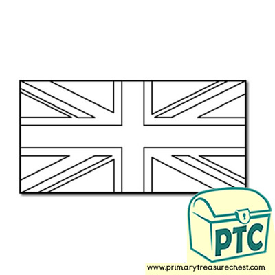 British Flag Colouring sheet