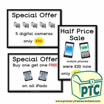 Role Play Electrical Shop Special Offers (21p - £99)