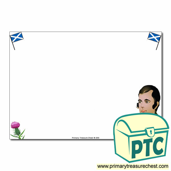 Robert Burns Themed Landscape Page Border - No Lines