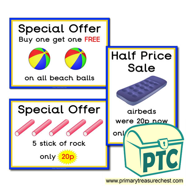 Seaside Shop Special Offers (1-20p)