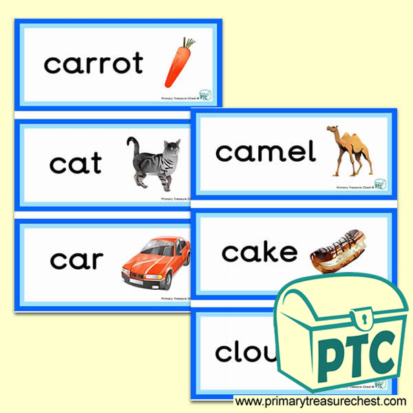 Letter 'c'  Themed Flashcards