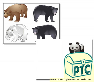Bear Storyboard / Cut & Stick Images