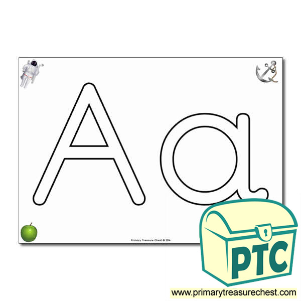 'Aa' Upper and Lowercase Bubble Letters A4 Poster, containing high quality, realistic images
