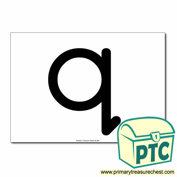 'q' Lowercase Letter A4 poster  (No Images)