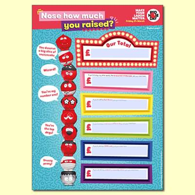 Nose How Much You Raised Poster For Red Nose Day