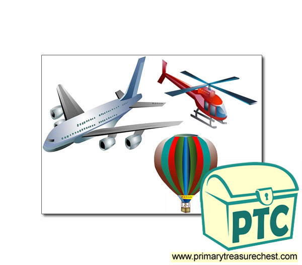 Air Transport Storyboard / Cut & Stick Images