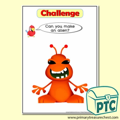 'Can you Make…?' Alien Challenge Card