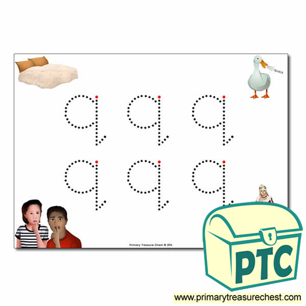 'q' Lowercase Letter Formation Activity - Join the Dots