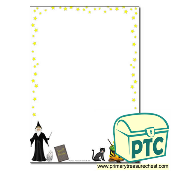 Magic Themed Page Border/Writing Frame (no lines)