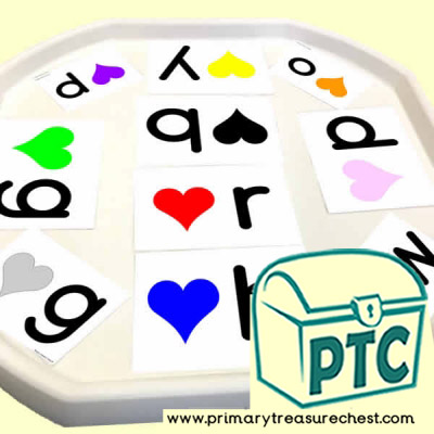 Heart / Valentine's Day Themed Phonics Tuff Tray Cards