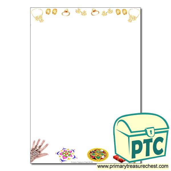diwali page border writing frame no lines diwali