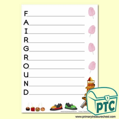 Fairground Acrostic Poem Sheet