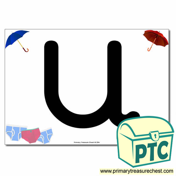 'U' Uppercase Letter A4 poster with high quality realistic images