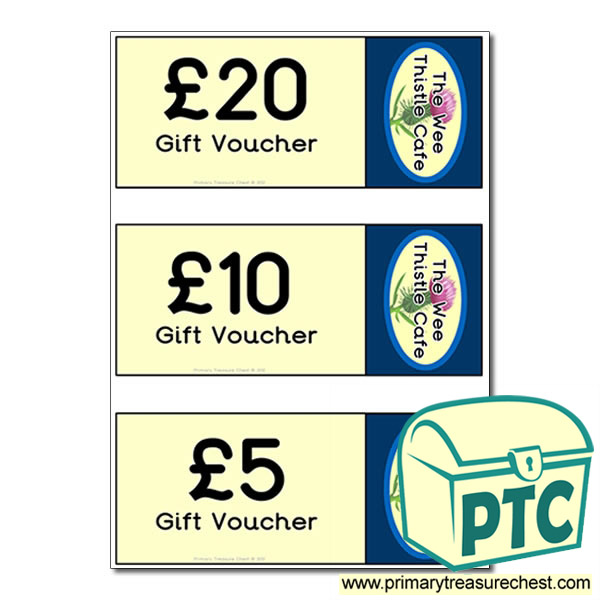 Scottish Cafe Role Play Shopping vouchers