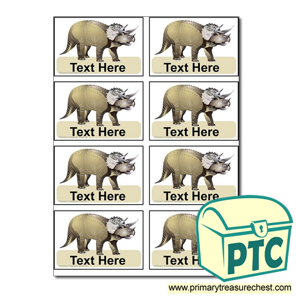 triceratops Coat Hook Labels