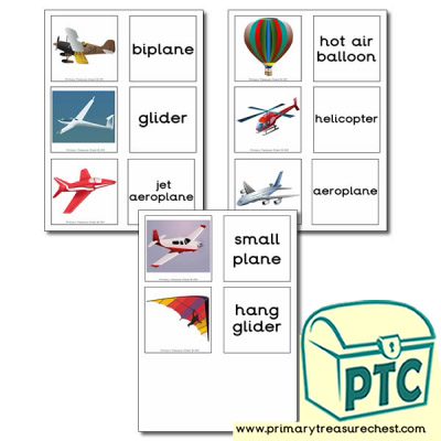 Air Transport Themed Matching Cards