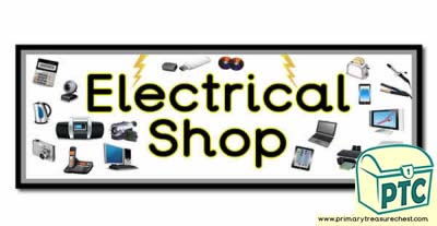 'Electrical Shop' Display Heading/ Classroom Banner