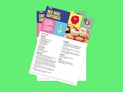 Bake Sale Extras for Red Nose Day - Recipes