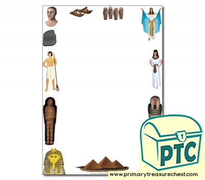Ancient Egypt Themed Page Border/ Writing Frames (no lines)