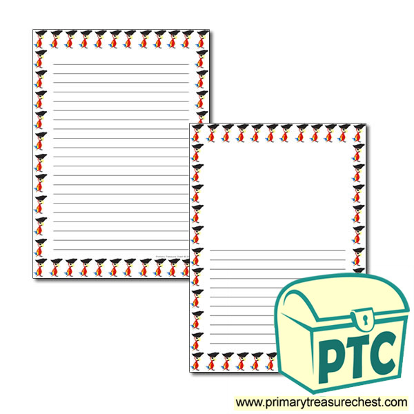 Pirate Themed Page Border/Writing Frame (narrow lines)