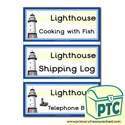 Lighthouse Themed Flashcards