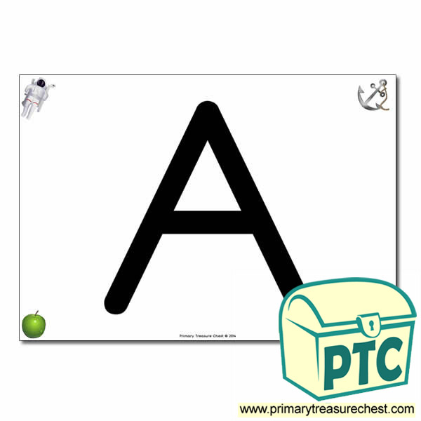 'A ' Uppercase Letter A4 poster with high quality realistic images