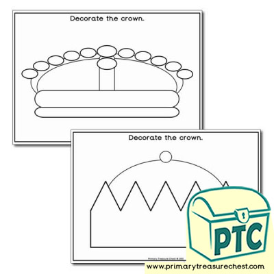 Crown Themed Worksheet
