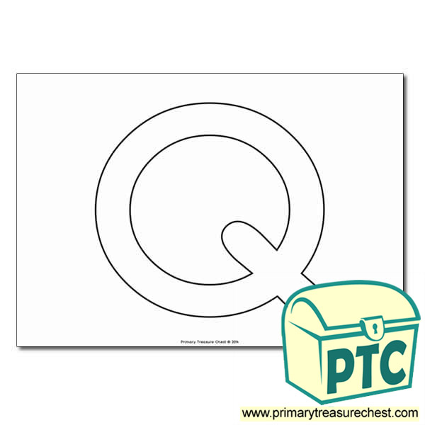 Uppercase Letter 'Q' Bubble  A4 Poster - No Images.