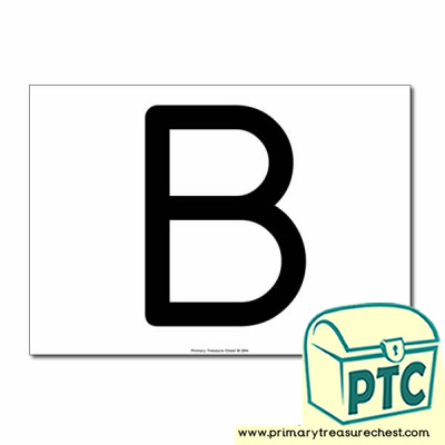 'B' Uppercase Letter A4 poster  (No Images)