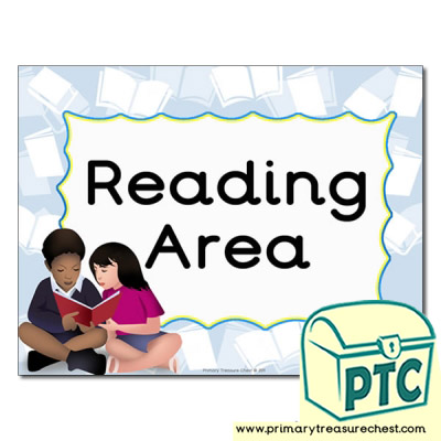 Reading Area Classroom Sign