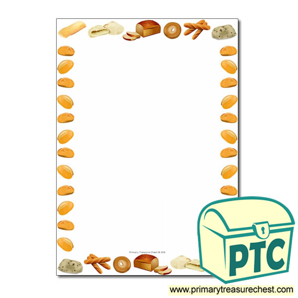 Bread Themed Page Borders Writing Frames No Lines