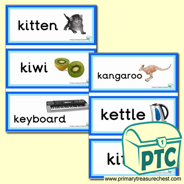 Letter 'k'  Themed Flashcards
