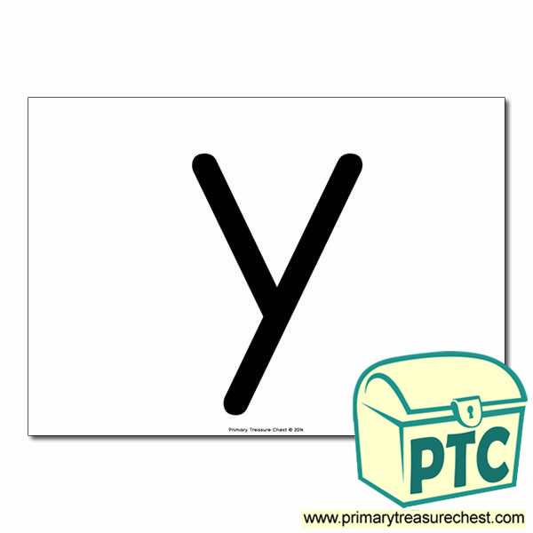 'y' Lowercase Letter A4 poster  (No Images)