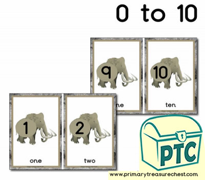 Mammoth Number Line 0 to 10