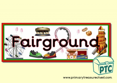 Double mounted effect, 'Fairground' themed display banner.
