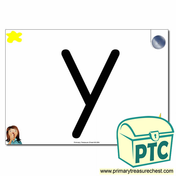 'y' Lowercase  Letter A4 Poster containing high quality realistic images.