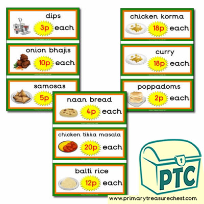 Indian Restaurant Role Play Prices (1-20p)