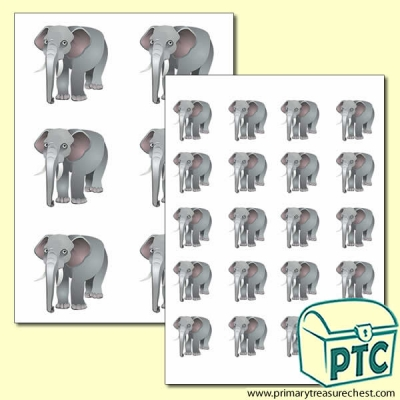Elephant Themed Big and Small Sheets