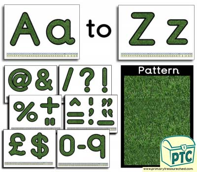 Grass themed Display Lettering