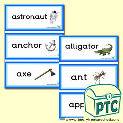 Letter 'a'  Themed Flashcards