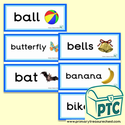 Letter 'b'  Themed Flashcards