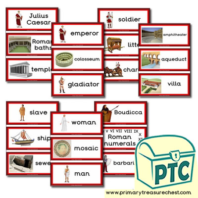 Roman Themed Flashcards